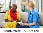 female community nurse visits... | Shutterstock . vector #770275120