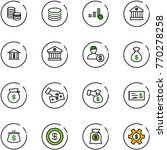 line vector icon set   coin... | Shutterstock .eps vector #770278258