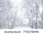 winter snow background  ... | Shutterstock . vector #770278498