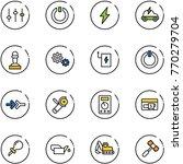 line vector icon set   settings ...   Shutterstock .eps vector #770279704