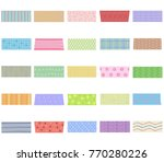 vector illustration set of cute ... | Shutterstock .eps vector #770280226