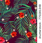 seamless tropical pattern.... | Shutterstock .eps vector #770281348