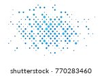 light blue vector red pattern... | Shutterstock .eps vector #770283460