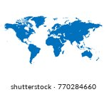 world map illustration isolated ... | Shutterstock . vector #770284660