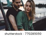 loving young couple hugging ... | Shutterstock . vector #770285050