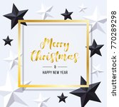 merry christmas and happy new... | Shutterstock .eps vector #770289298