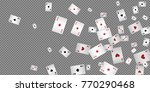 playing cards falling on...   Shutterstock .eps vector #770290468