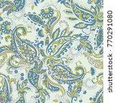 paisley ethnic seamless pattern ...   Shutterstock .eps vector #770291080