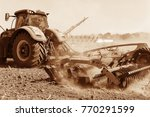 agriculture. the tractor... | Shutterstock . vector #770291599
