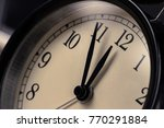 vintage alarm clock is showing... | Shutterstock . vector #770291884
