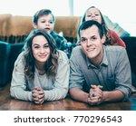 parents and positive children... | Shutterstock . vector #770296543