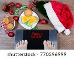 female feet on digital scales... | Shutterstock . vector #770296999