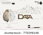 brain   pencil sketch   icon... | Shutterstock .eps vector #770298148