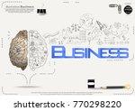 brain   pencil sketch   icon... | Shutterstock .eps vector #770298220