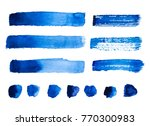 set of blue abstract watercolor ... | Shutterstock . vector #770300983