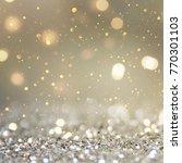 christmas light background. ... | Shutterstock . vector #770301103