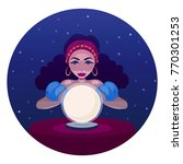 gypsy fortune teller with... | Shutterstock .eps vector #770301253
