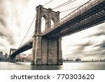 hdr view of brooklyn bridge... | Shutterstock . vector #770303620