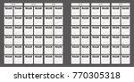 2018 2019 2020 calendar planner ... | Shutterstock .eps vector #770305318