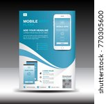 mobile apps flyer template.... | Shutterstock .eps vector #770305600
