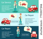 vector car service manager... | Shutterstock .eps vector #770307346