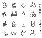thin line icon set   cleanser ... | Shutterstock .eps vector #770310094