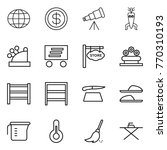 thin line icon set   globe ... | Shutterstock .eps vector #770310193