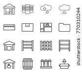 thin line icon set   warehouse  ... | Shutterstock .eps vector #770310244