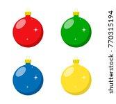 christmas ball  set. vector... | Shutterstock .eps vector #770315194