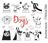 avatar dogs. funny lap dog ... | Shutterstock .eps vector #770316784