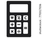 calculator icon  flat design... | Shutterstock .eps vector #770317036