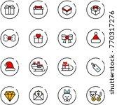 Line Vector Icon Set   Gift...
