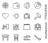 thin line icon set   target ... | Shutterstock .eps vector #770319544