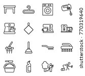 thin line icon set   table ... | Shutterstock .eps vector #770319640