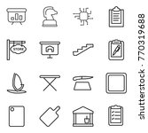 thin line icon set  ... | Shutterstock .eps vector #770319688
