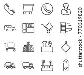 thin line icon set   phone ... | Shutterstock .eps vector #770319820