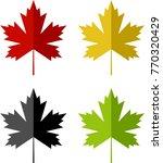maple leaf icon design vector... | Shutterstock .eps vector #770320429