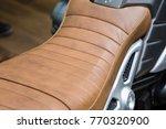 motorcycle seat.big bike seat. | Shutterstock . vector #770320900
