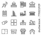 thin line icon set   greate... | Shutterstock .eps vector #770321929