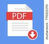 document download icon pdf.... | Shutterstock .eps vector #770322193