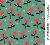 seamless floral pattern. floral ... | Shutterstock .eps vector #770322283