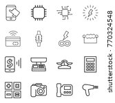 thin line icon set   touch ... | Shutterstock .eps vector #770324548