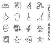 thin line icon set   iron ... | Shutterstock .eps vector #770324980