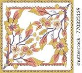 fantastic flower ornament.... | Shutterstock .eps vector #770325139