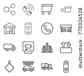 thin line icon set   share ... | Shutterstock .eps vector #770326528