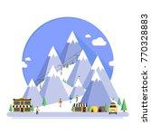 ski resort in mountains  winter ...   Shutterstock .eps vector #770328883