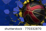 red black basketball ball on... | Shutterstock . vector #770332870