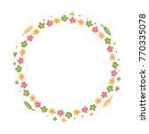 spring  summer cute round frame ... | Shutterstock .eps vector #770335078