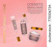 vector 3d cosmetic illustration ... | Shutterstock .eps vector #770336734
