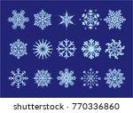 snowflakes winter blue snow...   Shutterstock .eps vector #770336860